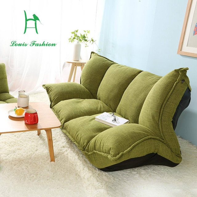 Wood and lazy sofa bed Japanese tatami sofa simple bedroom folding