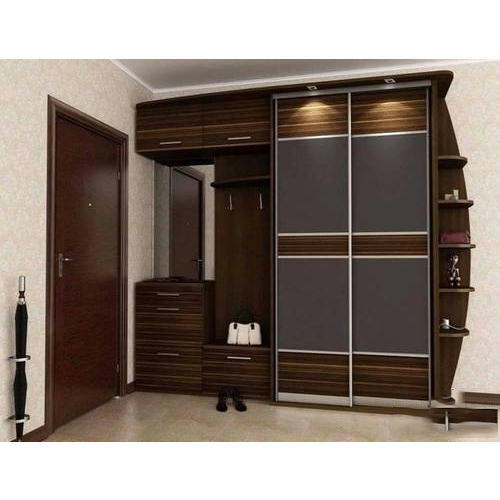 Modern Plywood Bedroom Wardrobe at Rs 1290 /square feet | Plywood Ke