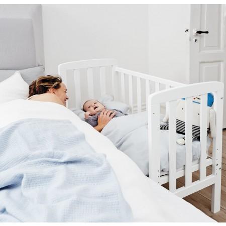BabyDan By My Side/Bedside Crib - White | Pupsik Singapore