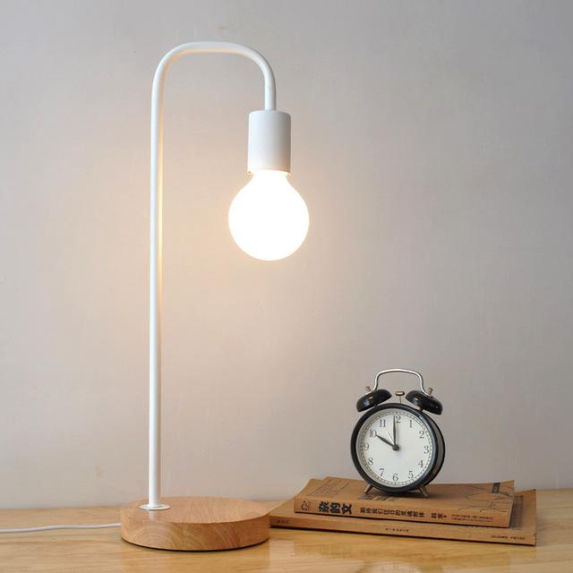 Metal Black Table Lamps Bedside Table Light abajur Modern Study
