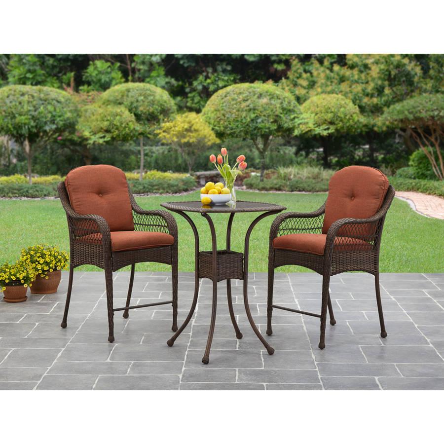 Better Homes and Gardens Azalea Ridge 3-Piece Balcony Bistro Set