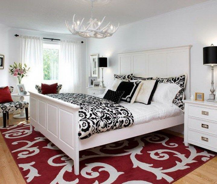 48 samples for black white and red bedroom decorating ideas (2
