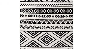 Ivy Bronx Shaun Geometric Moroccan Tribal Black/White Area Rug