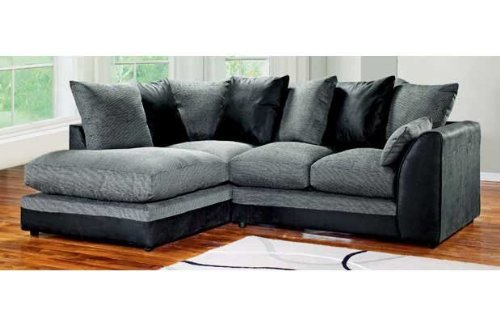 Dylan Byron Corner Group Sofa Black and Charcoal Right or Left