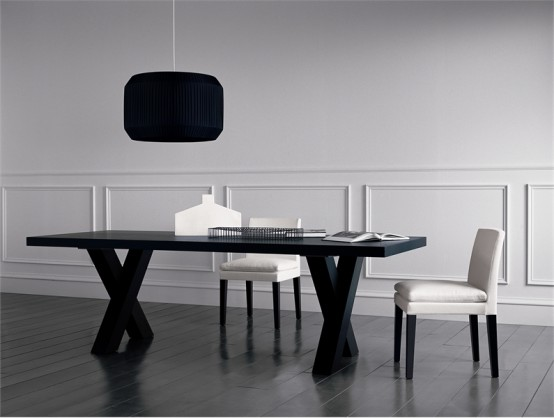 Black Dining Table u2013 Andrea by Casamilano