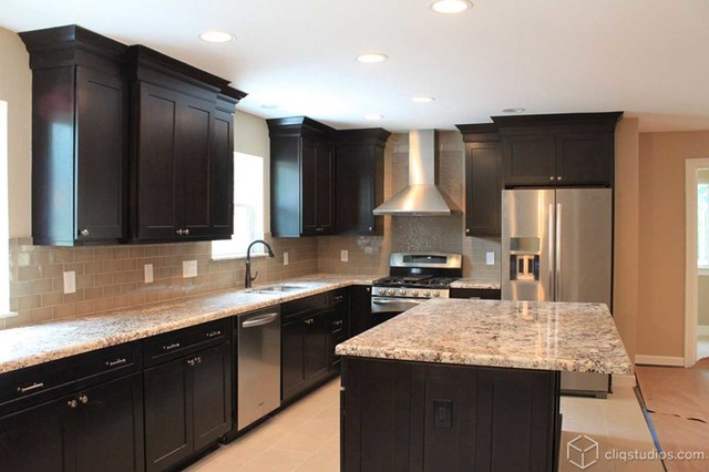 Black Kitchen Cabinets - Traditional - Kitchen - Houston - by