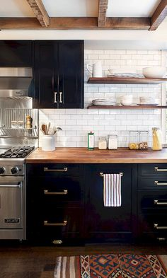 84 Best Dark Kitchen Cabinets images | Kitchen interior, Decorating
