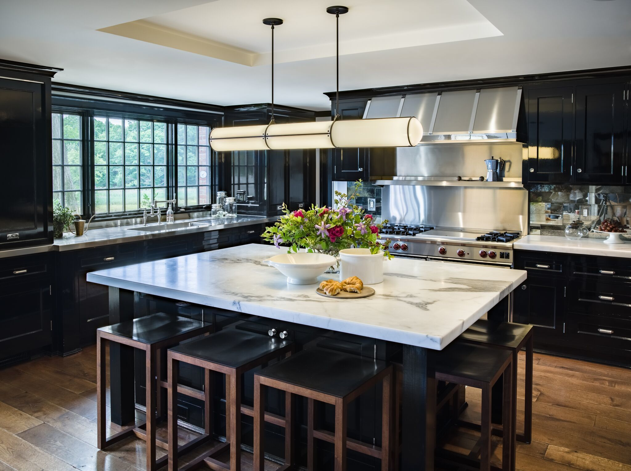 The Attractive Black Kitchen   Cabinets