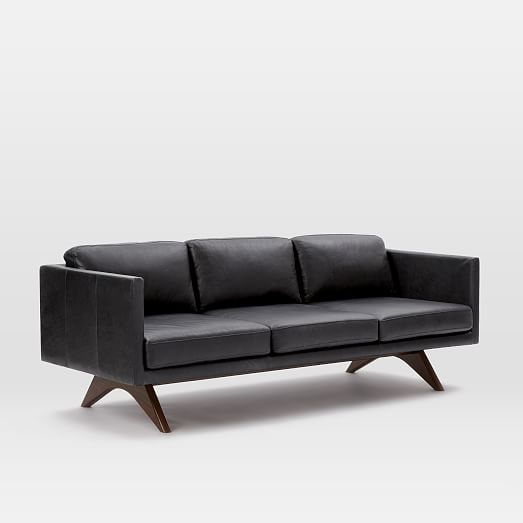 Brooklyn Down-Filled Leather Sofa (81