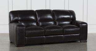 Grandin Blackberry Leather Sofa | Living Spaces