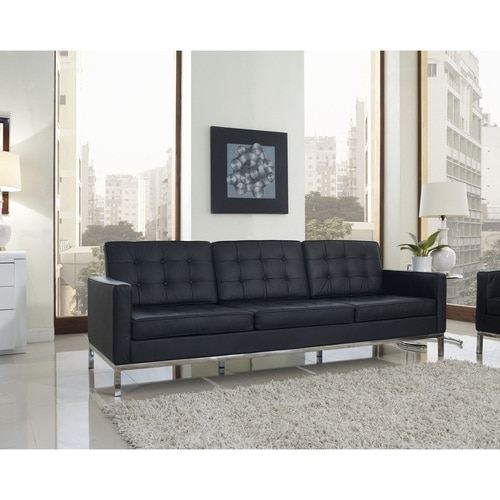 Florence Style Leather Loft Sofa | Zin Home