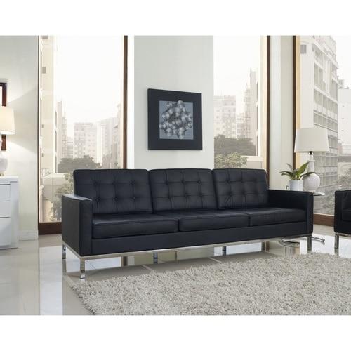 Florence Style Leather Loft Sofa   Zin Home