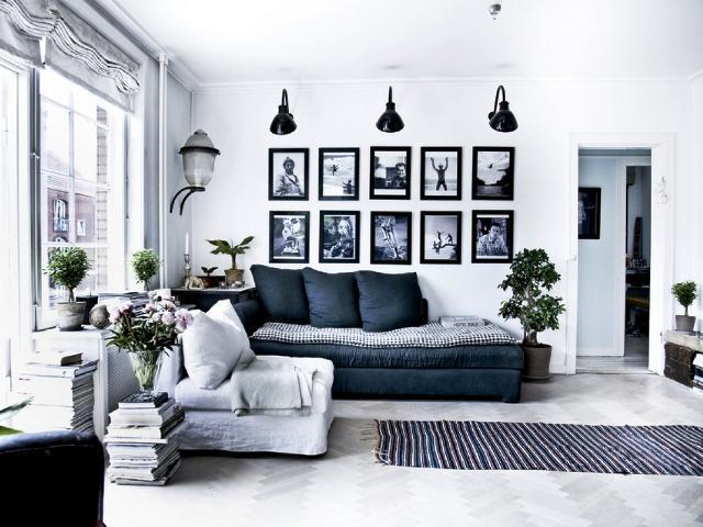 Dark Blue Living Room u2014 Ardusat HomesArdusat Homes