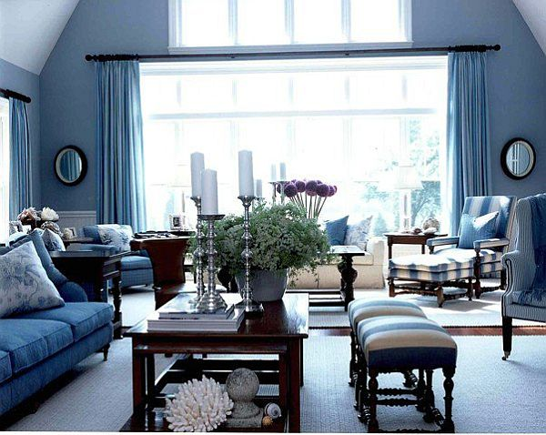 Great Blue Living Room Ideas