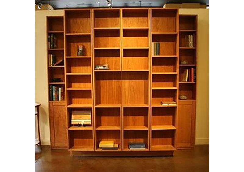 Bi-Folding Bookcase Wall Bed - Hardwood Artisans