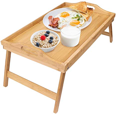 Amazon.com: Greenco Bamboo Foldable Breakfast Table, Laptop Desk