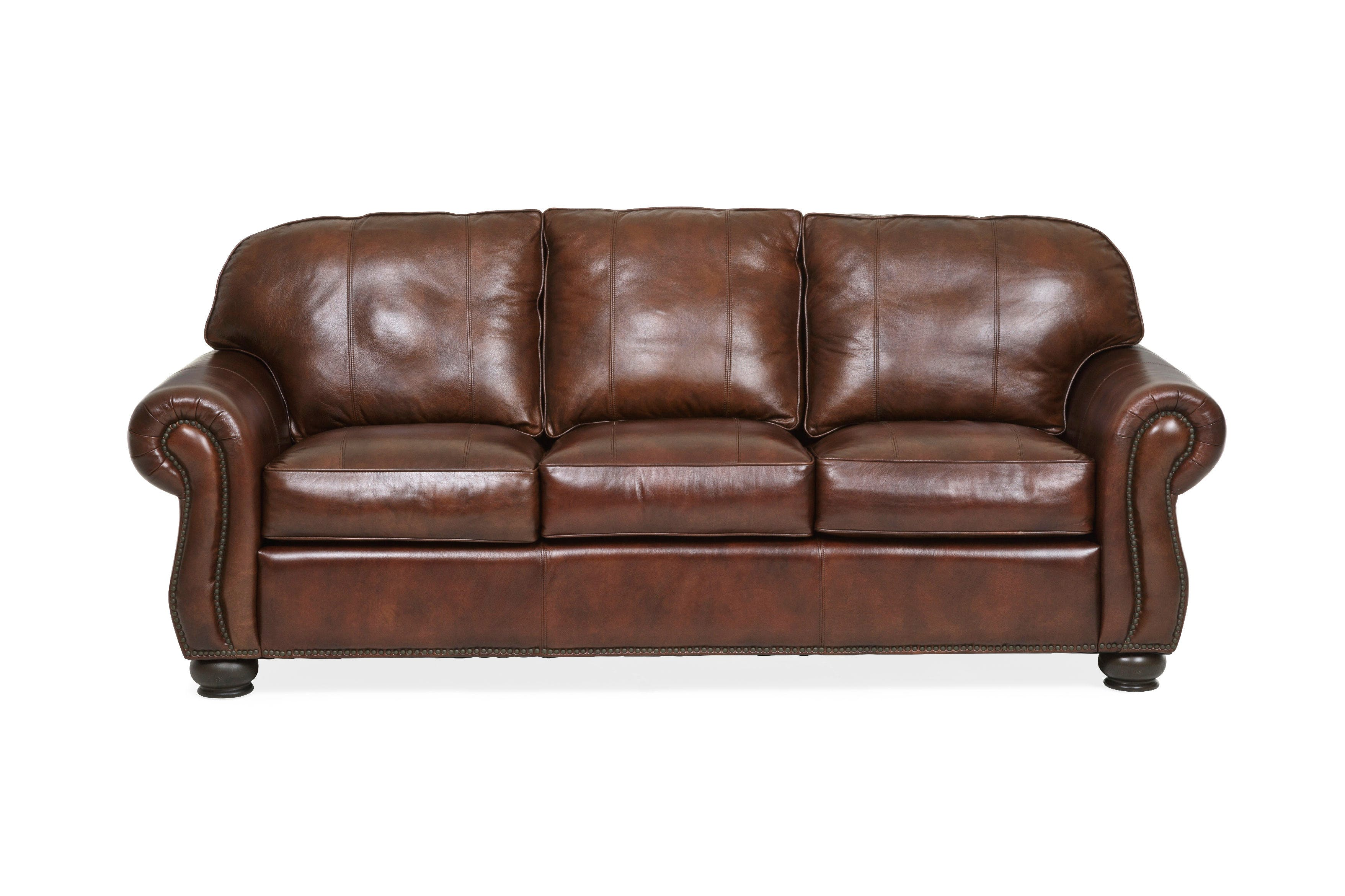 Living Room Benson Leather Sofa