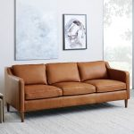 Elegant Furniture – A Brown   Leather Sofa