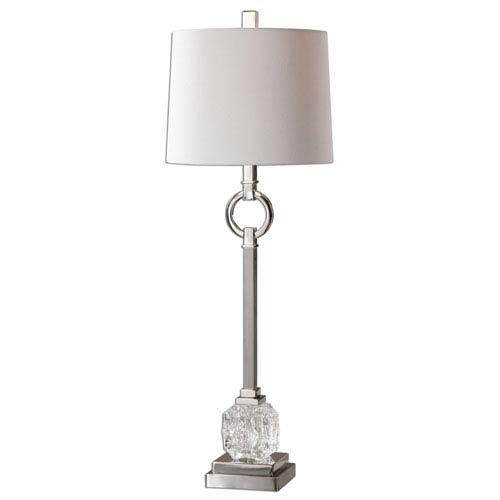 Uttermost Bordolano Polished Nickel One Light Buffet Lamp 29199 1