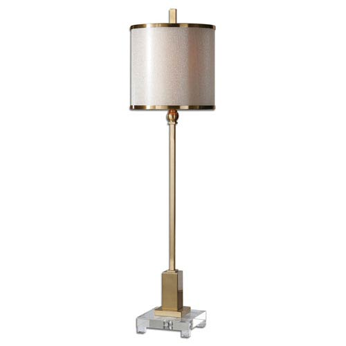 Uttermost Villena Brush Brass One Light Buffet Lamp 29940 1 | Bellacor