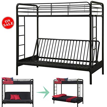 Amazon.com: Bunk Bed Couch Convertible Twin Bed For Kids, Teens And