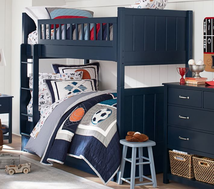 Camp Twin-Over-Twin Bunk Bed | Pottery Barn Kids