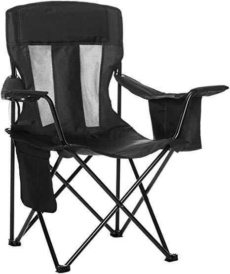 Amazon.com : AmazonBasics Camping Chair with Cooler, Black (Mesh