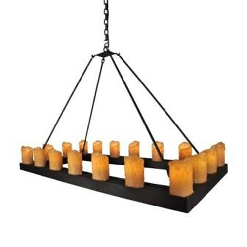 Steel Partners Lighting Candle Chandelier - RECTANGLE