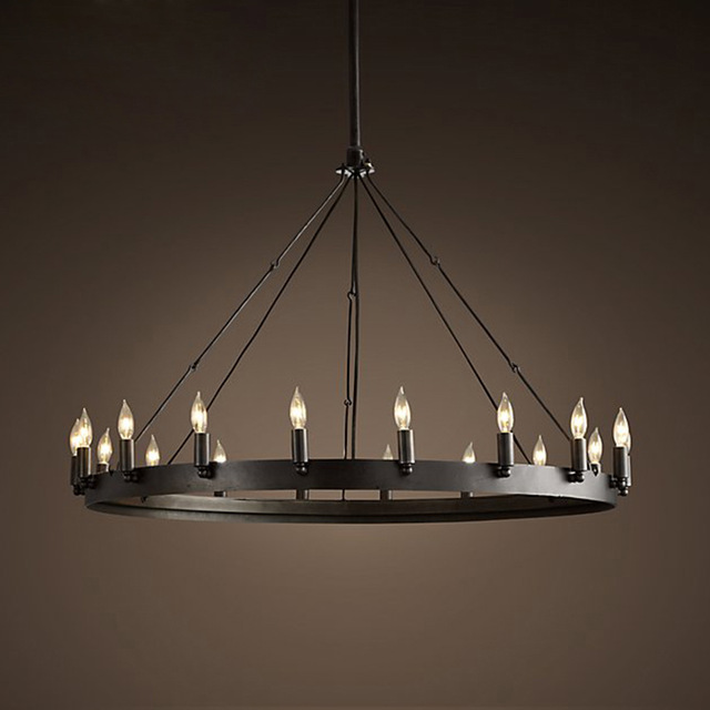 Samurai chandelier American iron art retro industrial wind LOFT