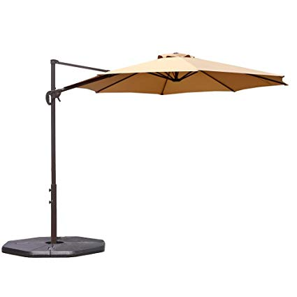 Amazon.com : Le Papillon 10 ft Cantilever Umbrella Outdoor Offset