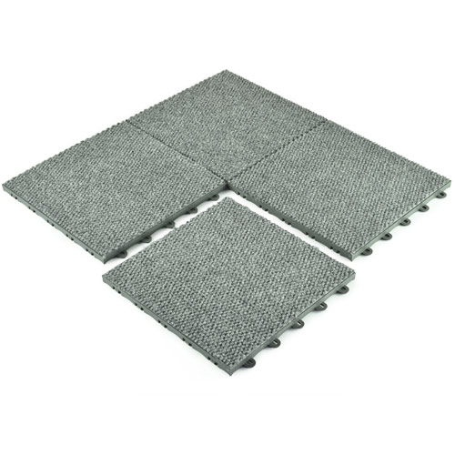 Basement Carpet Tiles - Raised Waterproof Carpet Tile