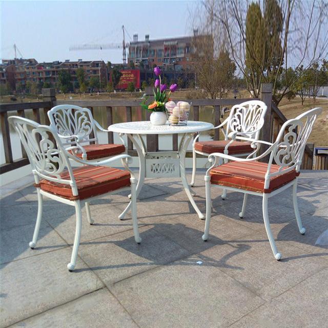 5 piece cast aluminum patio furniture garden furniture Outdoor
