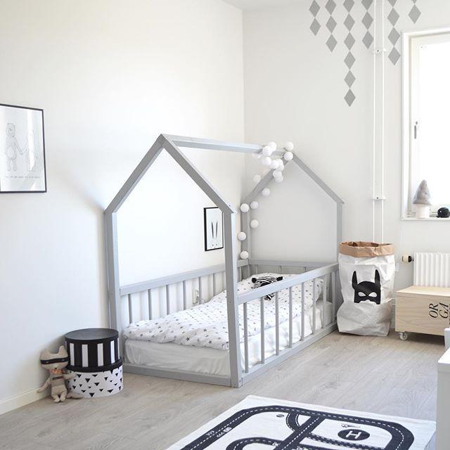 Big kid room. Love the house frame bed! | Dream kids room | Toddler