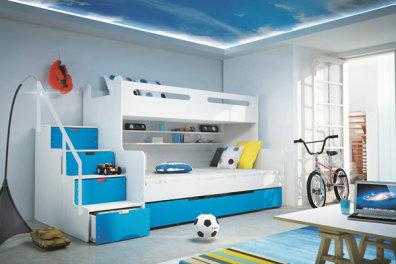 Marlo 3 Triple Bunk Bed Childrens Bedroom Furniture in Artane
