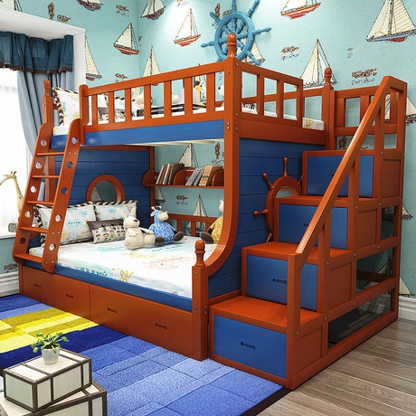 Children Beds Children Furniture solid wood All sides guardrail