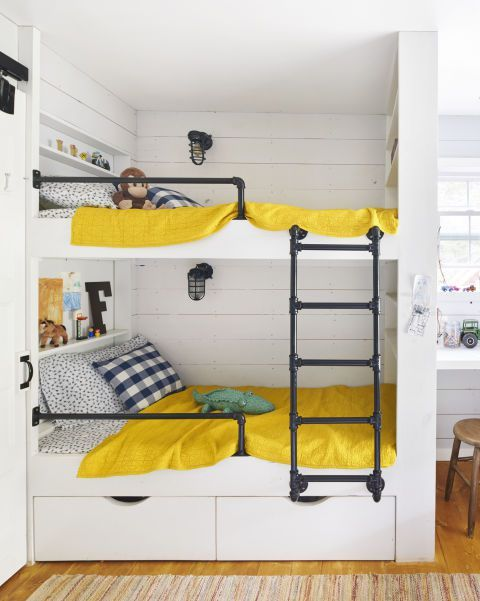 fun built in bunk bed idea for small spaces | For the Home in 2019
