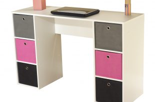 Kids Desk with Six Fabric Storage Bins, Multiple Colors - Walmart.com
