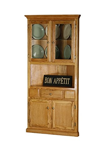 Amazon.com - Eagle Classic Oak Corner Dining Hutch/Buffet, Medium