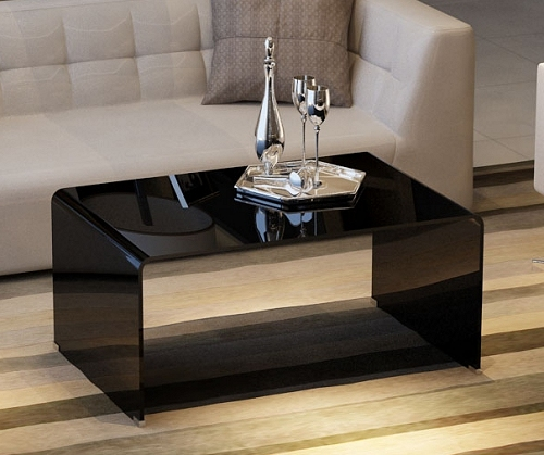 Coffee Tables Ideas: Futuristic designs coffee table black glass
