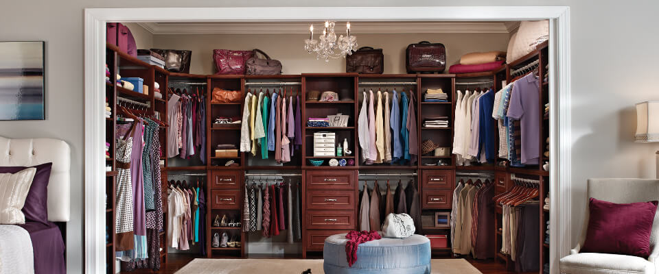 Keep your dresses organized   with closet organizer system