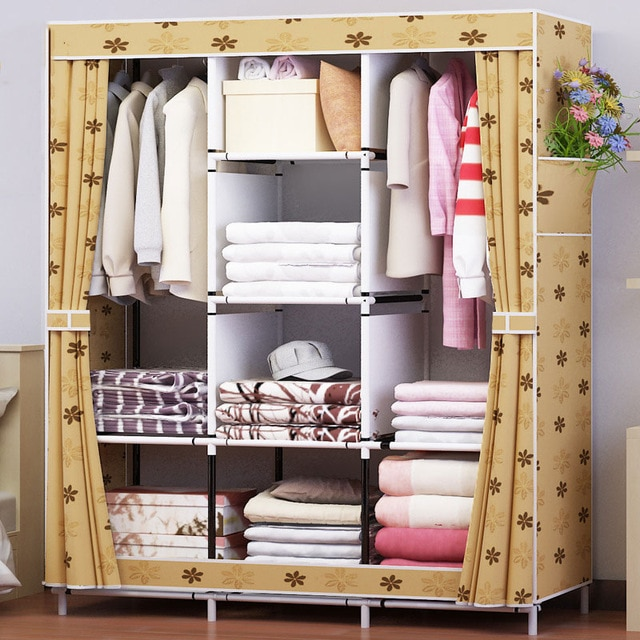 Waterproof Oxford Cloth Multi purpose Clothing Storage Cabinet