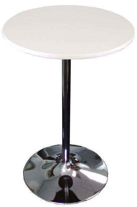 Round White Top Round Banquet Cocktail Table