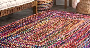 Amazon.com: Hand Braided Tammara Multi-Colored Area Rug: Kitchen