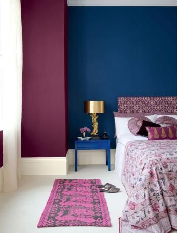 violet and blue glamorous Bedroom | Blue and purple bedroom colour