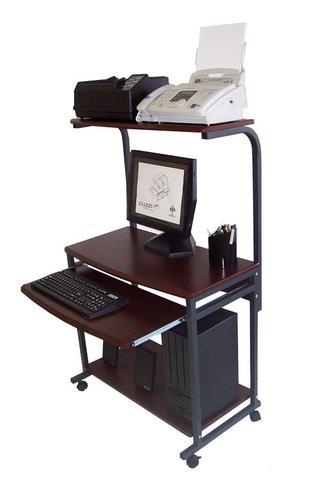 STS-7801 Compact Portable Computer Desk w/ Hutch Shelf & Keyboard