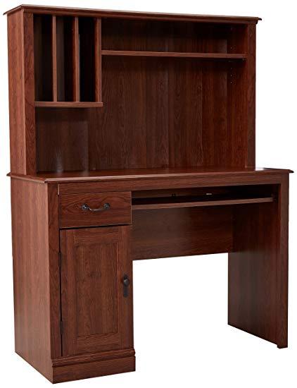 Amazon.com: Sauder 101736 Camden County Computer Desk with Hutch, L