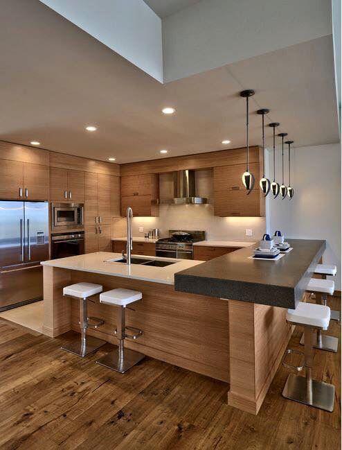 30 Elegant Contemporary Kitchen Ideas | Archi | Contemporary kitchen