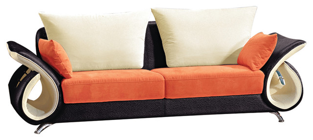 Orange And Black Modern Sofa - Contemporary - Sofas - by Titanic
