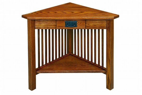American Mission Corner Table with Drawer from DutchCrafters Amish
