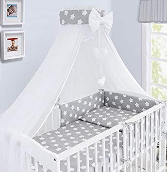 Luxury 10Pcs Baby Bedding Set COT Bed Pillow Duvet Cover Bumper